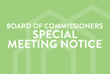 April 2021 Special Meeting of the Board of Commissioners Notice